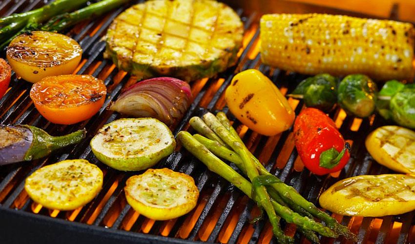 Sabroso asado de vegetales en tu parrilla BBQ GRILL